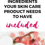 ingredients for skincare product