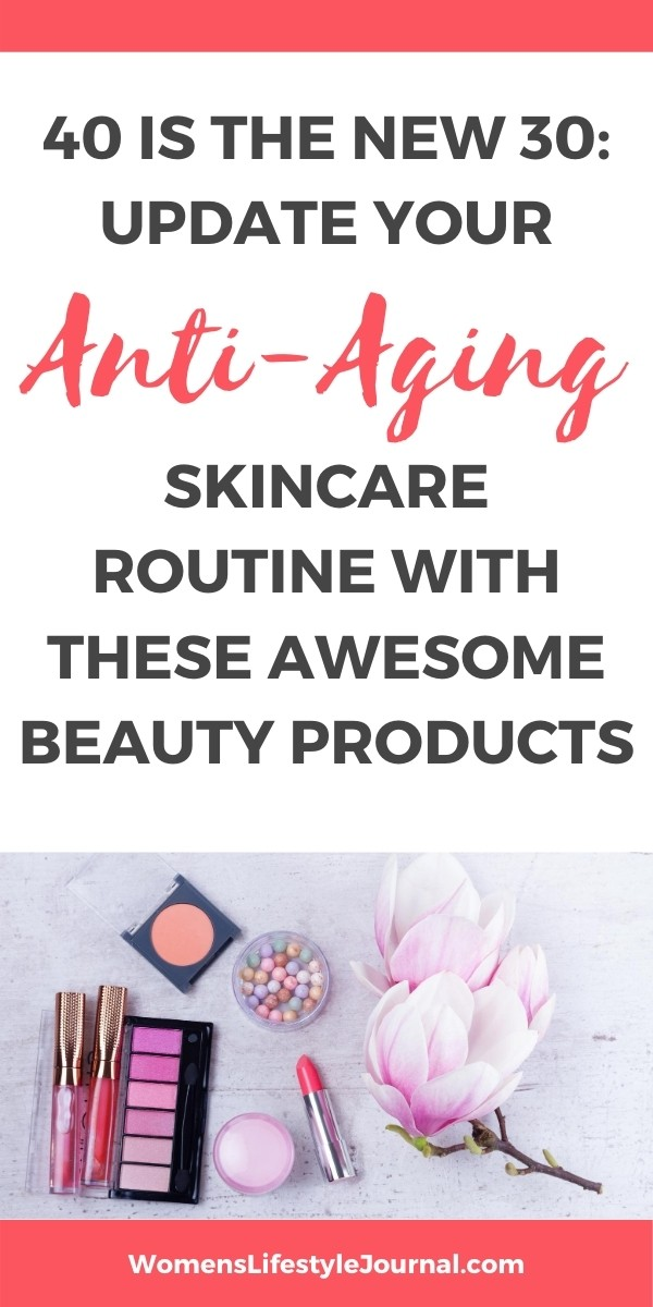 beauty products on table